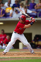 Stony Brook Seawolves outfielder Kevin Goldstein #XX at bat during the NCAA Super Regional baseball game against LSU on June 9, 2012 at Alex Box Stadium in Baton Rouge, Louisiana. Stony Brook defeated LSU 3-1. (Andrew Woolley/Four Seam Images)