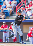 7 March 2016: Miami Marlins outfielder Ichiro Suzuki leads off the first inning during a Spring Training pre-season game against the Washington Nationals at Space Coast Stadium in Viera, Florida. The Nationals defeated the Marlins 7-4 in Grapefruit League play. Mandatory Credit: Ed Wolfstein Photo *** RAW (NEF) Image File Available ***