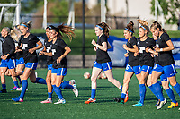 Boston, MA - Friday May 19, 2017: Boston Breakers during warmups before a regular season National Women's Soccer League (NWSL) match between the Boston Breakers and the Portland Thorns FC at Jordan Field.