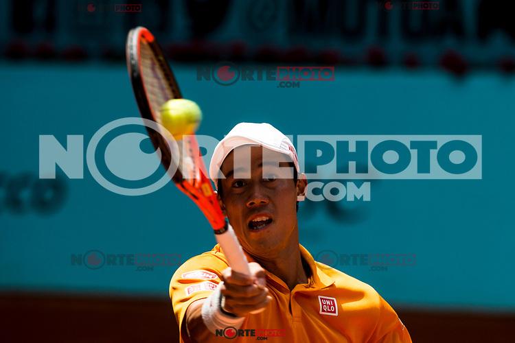 Kei Nishikori during the Mutua Madrid Open Tennis 2017 at Caja Magica in Madrid, May 10, 2017. Spain. /NortePhoto.com **NortePhoto.com