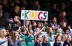 S&ouml;dert&auml;lje 2014-10-01 Basket Basketligan S&ouml;dert&auml;lje Kings - Norrk&ouml;ping Dolphins :  <br /> Unga S&ouml;dert&auml;lje Kings supportrar med en skylt med texten &quot;Kings&quot;<br /> (Foto: Kenta J&ouml;nsson) Nyckelord:  S&ouml;dert&auml;lje Kings SBBK T&auml;ljehallen Norrk&ouml;ping Dolphins supporter fans publik supporters