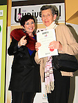 Maureen Perkins receives her Adult Poetry certificate from Mona Daly on the night..Picture: Shane Maguire / www.newsfile.ie.