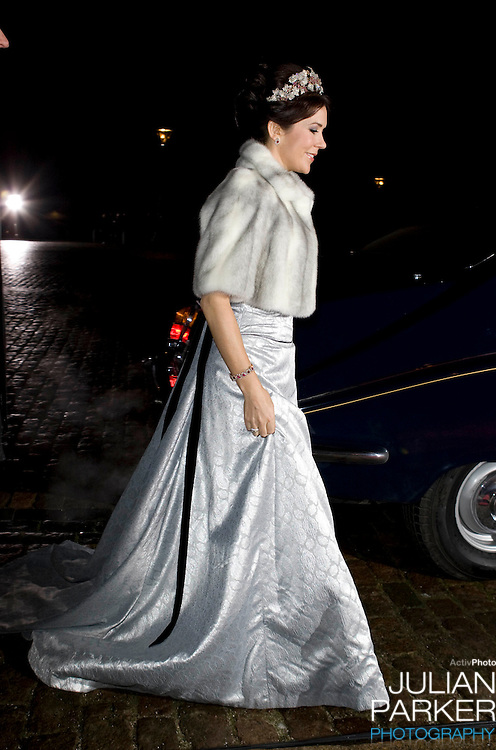 Crown Princess Mary of Denmark attend the Traditional New Year Gala Dinner, at Amalienborg Palace in Copenhagen Denmark