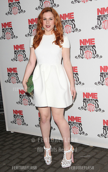 Katy B arriving for the NME Awards 2012 held at The Brixton Academy, London. 29/02/2012 Picture by: Henry Harris / Featureflash