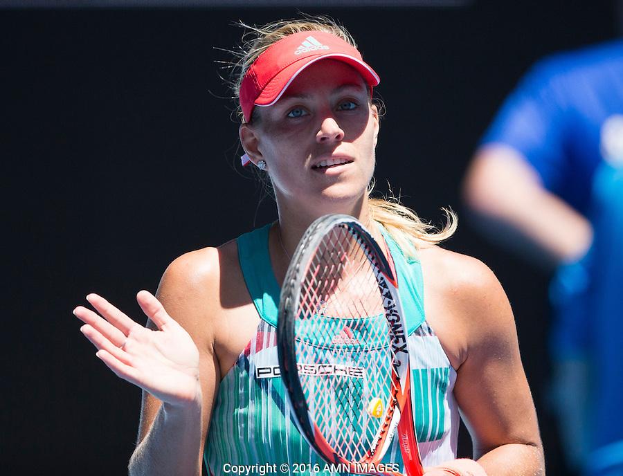 ANGELIQUE KERBER (GER)<br /> <br /> TENNIS - GRAND SLAM ITF / ATP  / WTA - Australian Open -  Melbourne Park - Melbourne - Victoria - Australia  - 25 January 2016<br /> <br /> &copy; AMN IMAGES