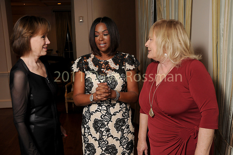 """From left: Deborah Keyser, Deborah Duncan and Deborah Wrigley chat at Preservation Houston's """"The Cornerstone Dinner""""  presenting the 2018 Good Brick Awards at the River Oaks Country Club Friday March 02,2018. (Dave Rossman Photo)"""