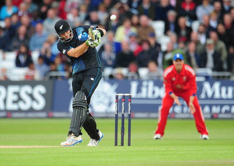 New Zealand's Martin Guptill in action today <br /> <br />  (Photo by Chris Vaughan/CameraSport) <br /> International Cricket - 3rd ODI - England v New Zealand - Wednesday 5th June 2013 - Trent Bridge - Nottingham<br /> <br /> &copy; CameraSport - 43 Linden Ave. Countesthorpe. Leicester. England. LE8 5PG - Tel: +44 (0) 116 277 4147 - admin@camerasport.com - www.camerasport.com