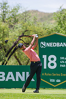 Shubhankar Sharma (IND) during the first round at the Nedbank Golf Challenge hosted by Gary Player,  Gary Player country Club, Sun City, Rustenburg, South Africa. 14/11/2019 <br /> Picture: Golffile | Tyrone Winfield<br /> <br /> <br /> All photo usage must carry mandatory copyright credit (© Golffile | Tyrone Winfield)