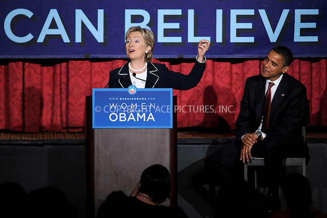 WWW.ACEPIXS.COM . . . . .....July 10, 2008. New York City.....Senator Hillary Clinton and presidential candidate Barack Obama speak at a Special Women for Obama Breakfast on July 10, 2008 in New York City.....Obama and Clinton discuss the challenges facing working women and families, and Barack's plans to help wome..  ....Please byline: Kristin Callahan - ACEPIXS.COM..... *** ***..Ace Pictures, Inc:  ..Philip Vaughan (646) 769 0430..e-mail: info@acepixs.com..web: http://www.acepixs.com