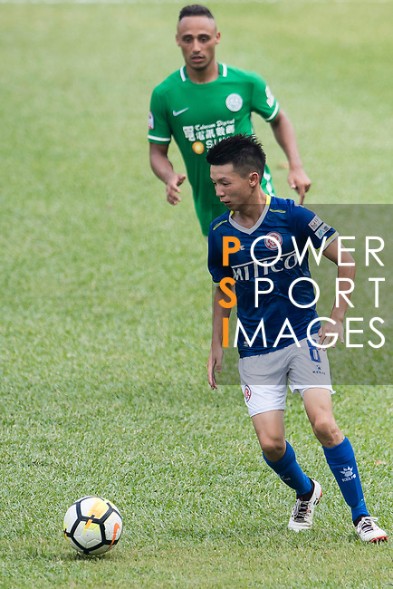 Lok Yin Lai of Rangers (R) in action during the week three Premier League match between BC Rangers and Wofoo Tai Po at Sham Shui Po Sports Ground on September 17, 2017 in Hong Kong, China. Photo by Marcio Rodrigo Machado / Power Sport Images
