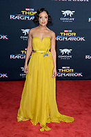 Tessa Thompson at the premiere for &quot;Thor: Ragnarok&quot; at the El Capitan Theatre, Los Angeles, USA 10 October  2017<br /> Picture: Paul Smith/Featureflash/SilverHub 0208 004 5359 sales@silverhubmedia.com