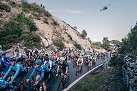 peloton over the Capo Berta<br /> <br /> 109th Milano-Sanremo 2018<br /> Milano &gt; Sanremo (291km)