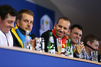 Sergio Garcia (EUR) at  the final European Team Press Conference after Sunday's Singles at the 2014 Ryder Cup from Gleneagles, Perthshire, Scotland. Picture:  David Lloyd / www.golffile.ie