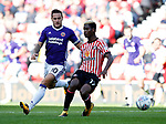 Billy Sharp of Sheffield Utd and Didier NDong of Sunderland during the Championship match at the Stadium of Light, Sunderland. Picture date 9th September 2017. Picture credit should read: Simon Bellis/Sportimage