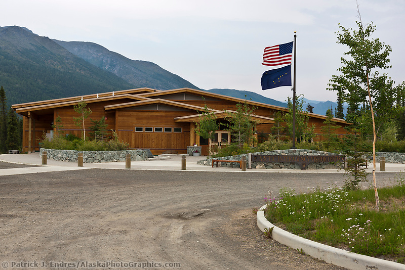 Arctic interagency visitors center, run cooperatively by the Bureau of Land Management, the U.S. Fish and Wildlife Service, and the National Park Service, Coldfoot, Alaska.