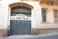 Domaine la Tour Vieille. Collioure. Roussillon. A door. France. Europe.
