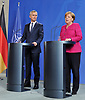 June 15-18,Berlin,GER,German Chancellor Angela Merkel at a news conference with NATO Secretary Gener