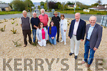 Forge Cross residents stand on the newly planted roundabout on Monday <br /> Front l to r: Cllr Jim Finucane and Joe Moriarty.<br /> Back kneeling l to r: Ella Shanahan and Siadbh Sinnott.<br /> Back l to r: Michael Moloney, Joe Dineen, Paul Doyle, John Boyle and Breda Switzer.