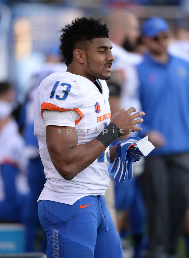 Boise State Broncos Jeremy McNichols (13) during a game against the San Jose State Spartans on November 27, 2015 at Spartan Stadium in San Jose, CA. Boise State beat San Jose State 40-23.