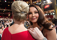 Meryl Streep and Ashley Judd attend the live ABC Telecast of The 90th Oscars&reg; at the Dolby&reg; Theatre in Hollywood, CA on Sunday, March 4, 2018.<br /> *Editorial Use Only*<br /> CAP/PLF/AMPAS<br /> Supplied by Capital Pictures