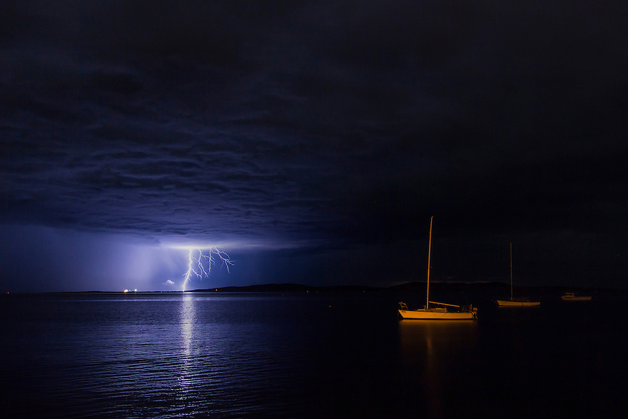 Lightning over Boston Bay. Port Lincoln. South Australia.