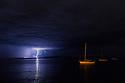 Lightning over Boston Bay. Port Lincoln. South Australia.