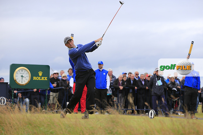David HOWELL (ENG) tees off the 16th tee during Sunday's Round 3 of the 144th Open Championship, St Andrews Old Course, St Andrews, Fife, Scotland. 19/07/2015.<br /> Picture Eoin Clarke, www.golffile.ie