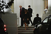 United States President Donald J.Trump and first lady Melania Trump depart the White House en route to the Trump International Hotel, on October 28, 2017 in Washington, DC. <br /> Credit: Olivier Douliery / Pool via CNP
