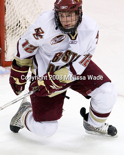 Ben Smith (Boston College - 12) - The Boston University Terriers defeated the Boston College Eagles 3-1 at Kelley Rink in Conte Forum in Chestnut Hill, Massachusetts.