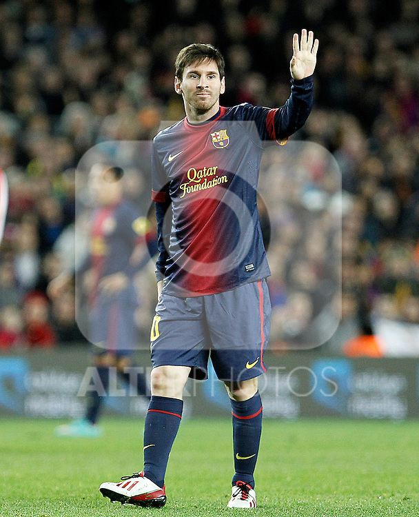FC Barcelona's Leo Messi during La Liga match.December 16,2012. (ALTERPHOTOS/Acero)