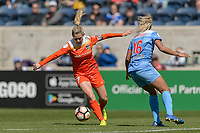 Bridgeview, IL - Saturday May 06, 2017: Kealia Ohai during a regular season National Women's Soccer League (NWSL) match between the Chicago Red Stars and the Houston Dash at Toyota Park. The Red Stars won 2-0.