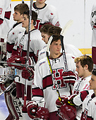 Cameron Gornet (Harvard - 32), Ryan Donato (Harvard - 16), Nathan Krusko (Harvard - 13), John Marino (Harvard - 12), Adam Fox (Harvard - 18) - The Harvard University Crimson defeated the Air Force Academy Falcons 3-2 in the NCAA East Regional final on Saturday, March 25, 2017, at the Dunkin' Donuts Center in Providence, Rhode Island.