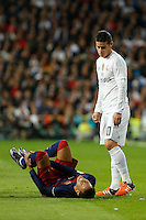 Real Madrid´s James and Barcelona´s Neymar Jr during 2015-16 La Liga match between Real Madrid and Barcelona at Santiago Bernabeu stadium in Madrid, Spain. November 21, 2015. (ALTERPHOTOS/Victor Blanco) /NortePhoto
