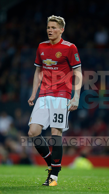 Scott McTominay of Manchester United during the Carabao Cup Third Round match at the Old Trafford Stadium, Manchester. Picture date 20th September 2017. Picture credit should read: Simon Bellis/Sportimage