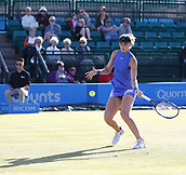 June 15th 2017, Nottingham, England;WTA Aegon Nottingham Open Tennis Tournament day 6;  Lucie Safarova of Czech Republic play Su-Wei Hsieh of Taipei