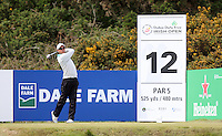 Saturday 30th May 2015; Jaco Van Zyl, South Africa, tees off at the 12th<br /> <br /> Dubai Duty Free Irish Open Golf Championship 2015, Round 3 County Down Golf Club, Co. Down. Picture credit: John Dickson / SPORTSFILE