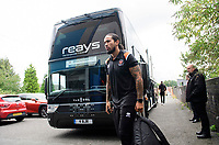 Blackpool's Joe Nuttall gets off the team bus after arriving at the ground<br /> <br /> Photographer Chris Vaughan/CameraSport<br /> <br /> The EFL Sky Bet League One - Coventry City v Blackpool - Saturday 7th September 2019 - St Andrew's - Birmingham<br /> <br /> World Copyright © 2019 CameraSport. All rights reserved. 43 Linden Ave. Countesthorpe. Leicester. England. LE8 5PG - Tel: +44 (0) 116 277 4147 - admin@camerasport.com - www.camerasport.com