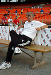 15 May 2004: Wizards head coach Bob Gansler watches his team warm up before the game. DC United defeated the Kansas City Wizards 1-0 at RFK Stadium in Washington, DC during a regular season Major League Soccer game..