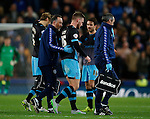 Tom Lees of Sheffield Wednesday goes off injured - Capital One Cup Quarter-Final - Stoke City vs Sheffield Wednesday - Britannia Stadium - Stoke - England - 1st December 2015 - Picture Simon Bellis/Sportimage