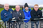 Kerry fans pictured at the McGrath Cup semi-final, Kerry v CIT on Sunday, were l-r: Joe O'Sullivan, Paudie Commane, David O'Sullivan and Barry Commane.