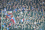 10.03.2018, Vonovia Ruhrstadion, Bochum, GER, 2.FBL., VfL Bochum vs. Holstein Kiel<br /> im Bild / picture shows: <br /> Fans, freundlich, Stimmung, farbenfroh, Nationalfarbe, geschminkt, Emotionen, kieler <br /> <br /> <br /> <br /> Foto &copy; nordphoto / Meuter