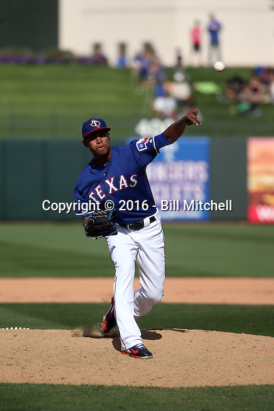 Yohander Mendez - Texas Rangers 2016 spring training (Bill Mitchell)