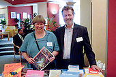 Susan Norman & Hugh L'Estrange at a Teaching Expertise conference in Birmingham..