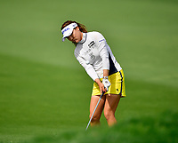 So Yeon Ryu of Korea, the 2017 ANA Inspiration Champion, plays her 3rd shot from in front of the 9th green,  during the Final round of the ANA Inspiration at the Mission Hills Country Club in Palm Desert, California, USA. 4/1/18.<br /> <br /> Picture: Golffile | Bruce Sherwood<br /> <br /> <br /> All photo usage must carry mandatory copyright credit (&copy; Golffile | Bruce Sherwood)during the second round of the ANA Inspiration at the Mission Hills Country Club in Palm Desert, California, USA. 4/1/18.<br /> <br /> Picture: Golffile | Bruce Sherwood<br /> <br /> <br /> All photo usage must carry mandatory copyright credit (&copy; Golffile | Bruce Sherwood)