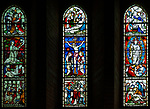 Victorian stained glass east window, Chute church, Wiltshire, England, UK by Heaton, Butler & Bayne 1869