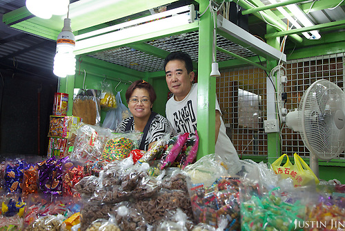 Store-owners and punters in Ariel's story.