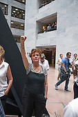 "Actress Susan Sarandon joins the ""Women's March in Civil Disobedience to End Family Detention"" in the atrium of the Hart Senate Office Building in Washington, DC on Thursday, June 28, 2018.  <br /> Credit: Ron Sachs / CNP<br /> (RESTRICTION: NO New York or New Jersey Newspapers or newspapers within a 75 mile radius of New York City)"