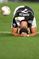 Cristiano Ronaldo of Juventus on his knees during the Serie A football match between Juventus FC and US Lecce at Juventus stadium in Turin  ( Italy ), June 26th, 2020. Play resumes behind closed doors following the outbreak of the coronavirus disease. Photo Andrea Staccioli / Insidefoto