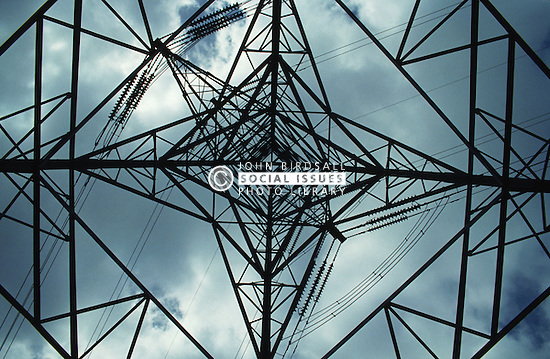 View from inside electricity pylon,