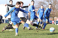 Queens Park FC beat Apsley FC 1-0 in the semi final of Hampshire Sunday Senior Cup at King George Playing fields - 08-01-12..